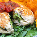 Juicy Avocado-Salsa-Stuffed Organic Turkey Burgers