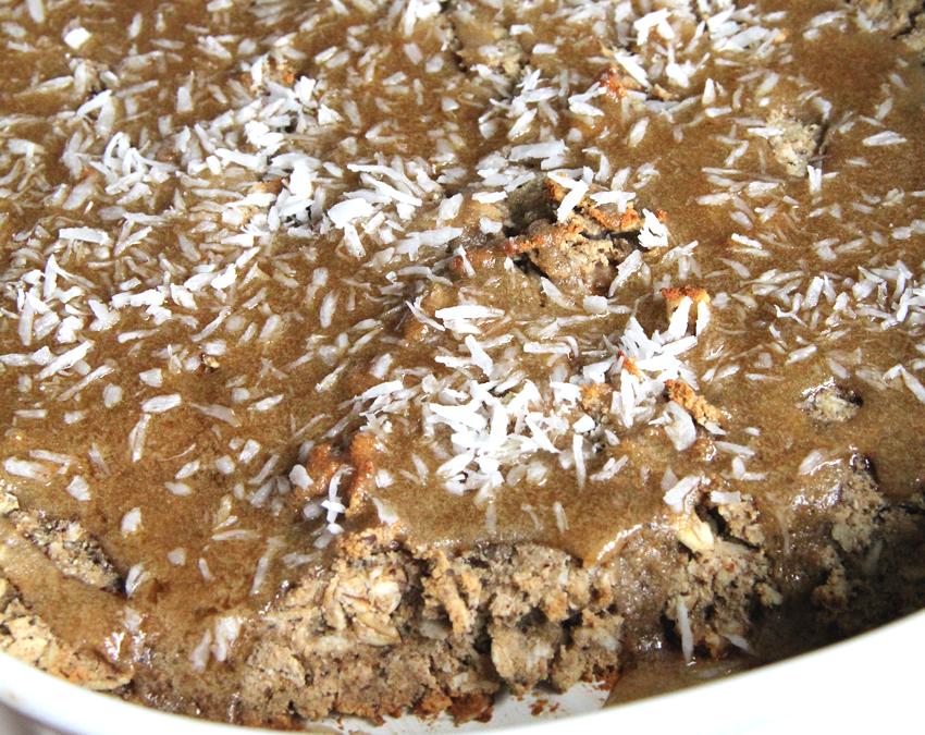 Coconut Cake Oatmeal Squares