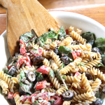 Creamy Roasted Red Pepper Pasta Salad