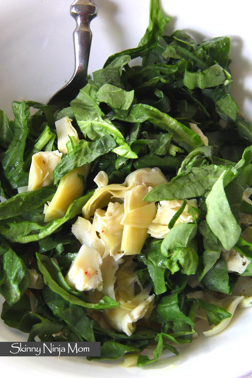 Spinach-Artichoke Egg Salad Wrap