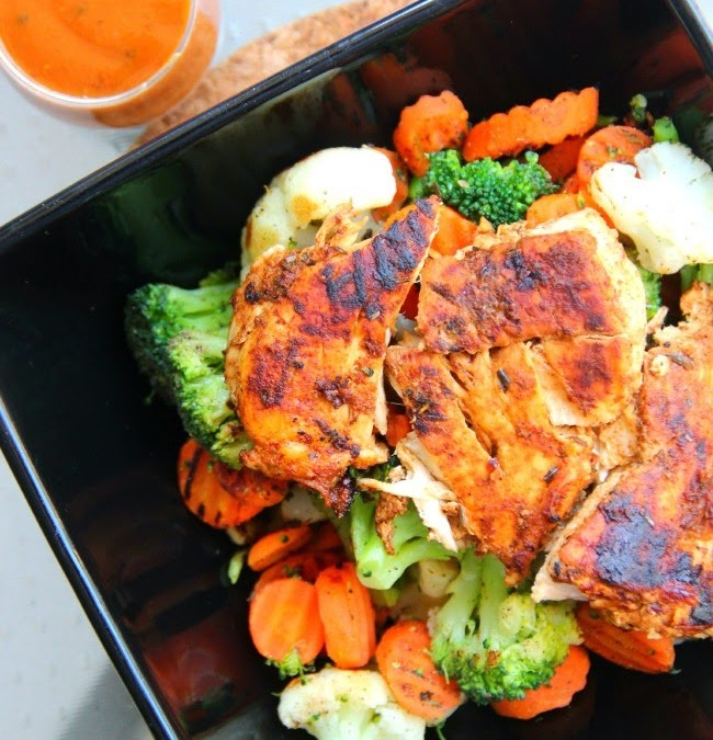 Spicy Grilled Chicken and Veggie Bowl