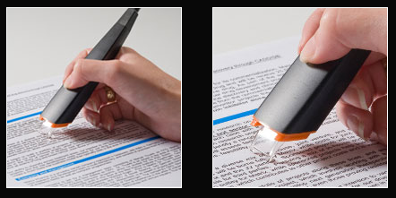 A highlighter that uploads scanned text to your computer