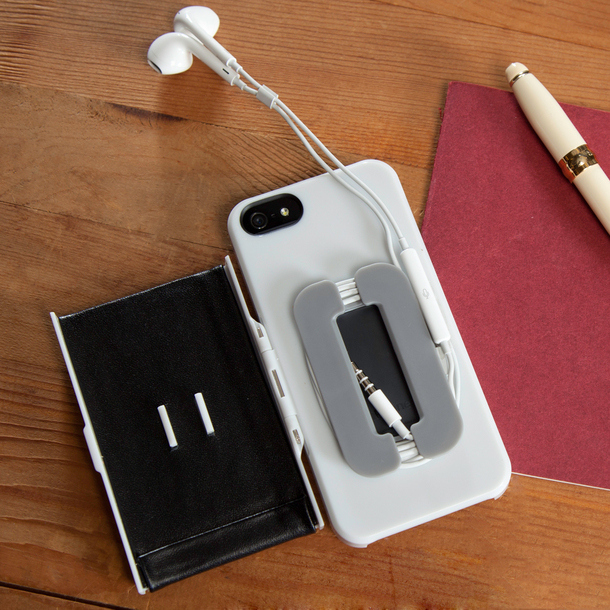 iPhone Case with Earbuds Holder