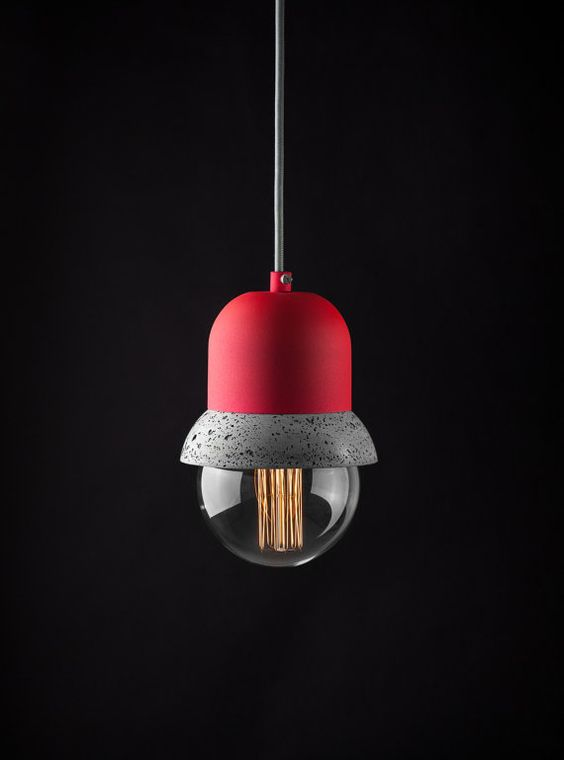 Pendant Lightweight Concrete Lamp
