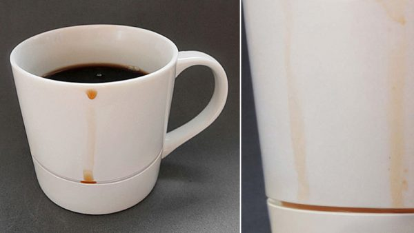 Drip-catcher Coffee Mug
