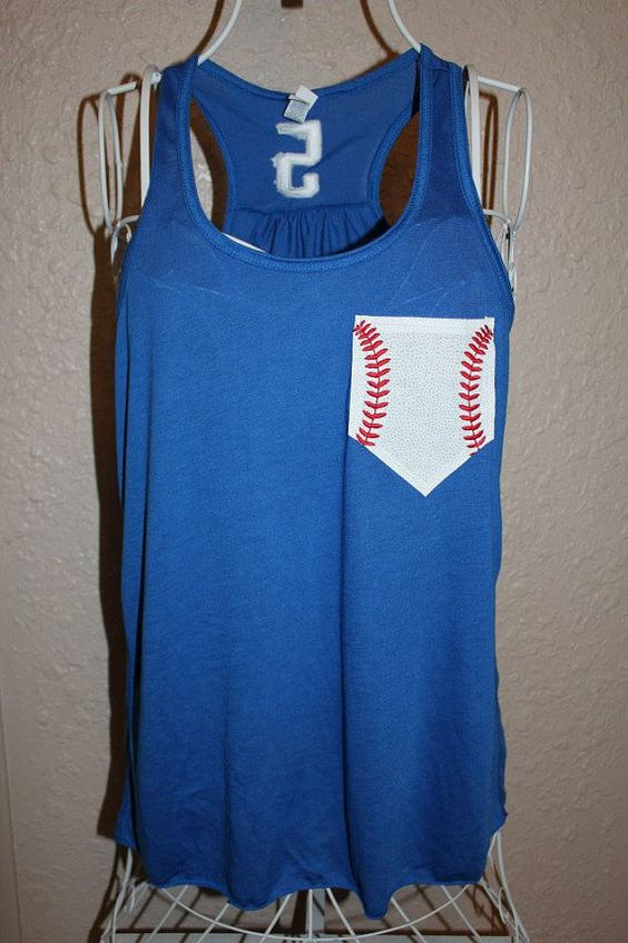 Custom Personalized Baseball Mom Racerback Loose Tank