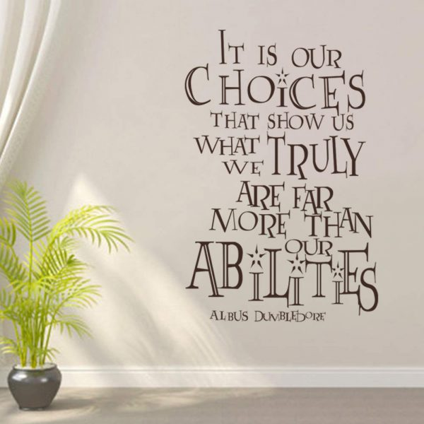 Dumbledore Quote Wall Decal