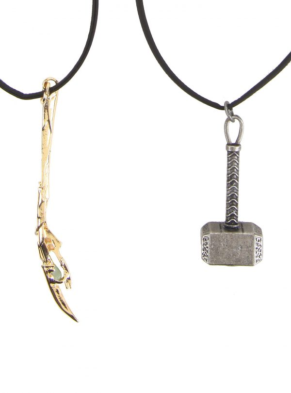 Marvel Avengers Thor& Loki Cord Necklace Set
