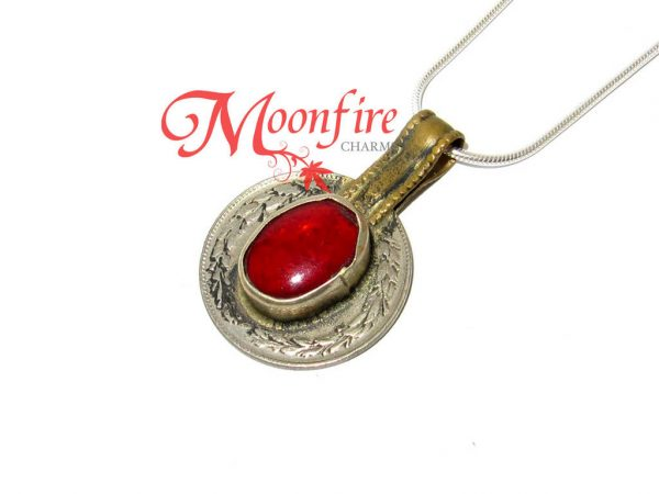 The Avengers Scarlet Witch Red Oval Pendant Necklace