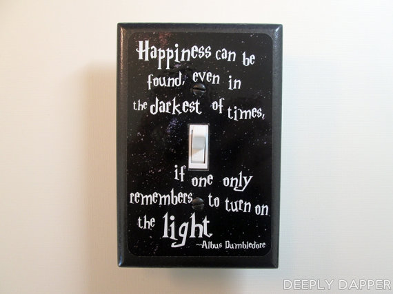 Dumbledore Quote Light Box