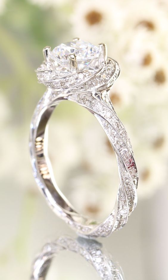 10 gorgeous unique wedding ring ideas skinny ninja mom stunning twist engagement ring junglespirit Gallery