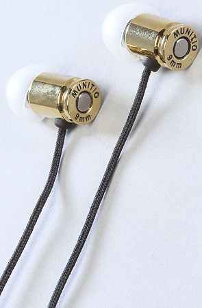 The Standard Issue Titanium 9MM Earphones in Gold