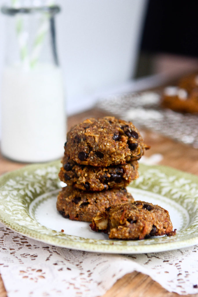 Pumpkin Chocolate Chip and Coconut Grain Free Cookies