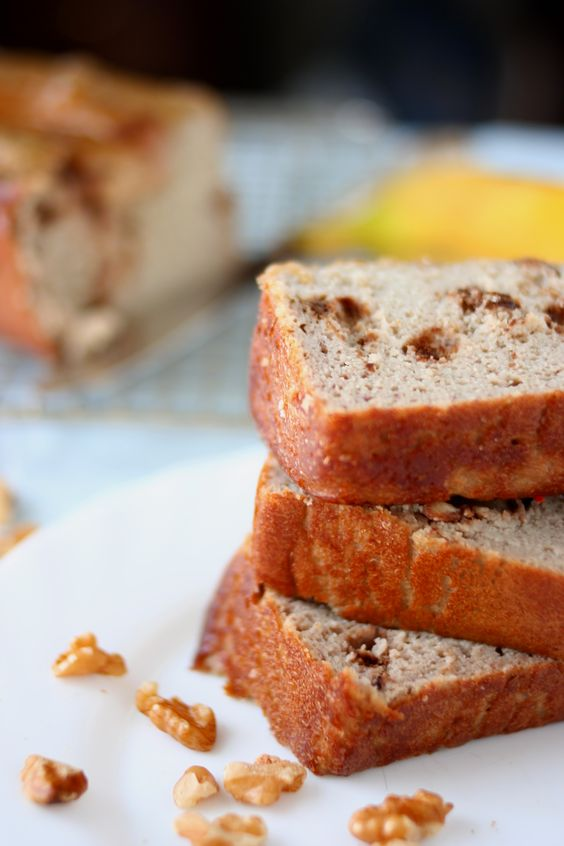 Grain and Sugar Free Banana Walnut Bread
