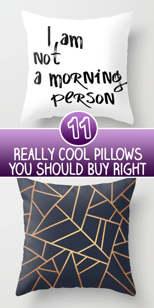 11 Really Cool Pillows You Should Buy Right Now
