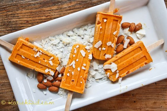 Carrot Cake and Almond Butter Pops