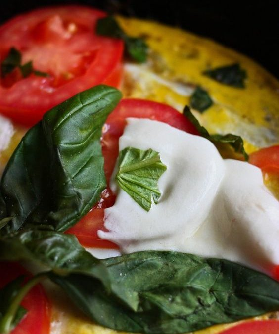caprese salad omlette