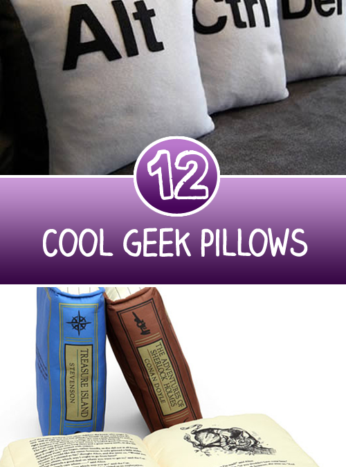 12 Cool Geek Pillows