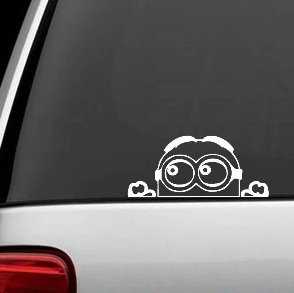 Minion Peeking decal