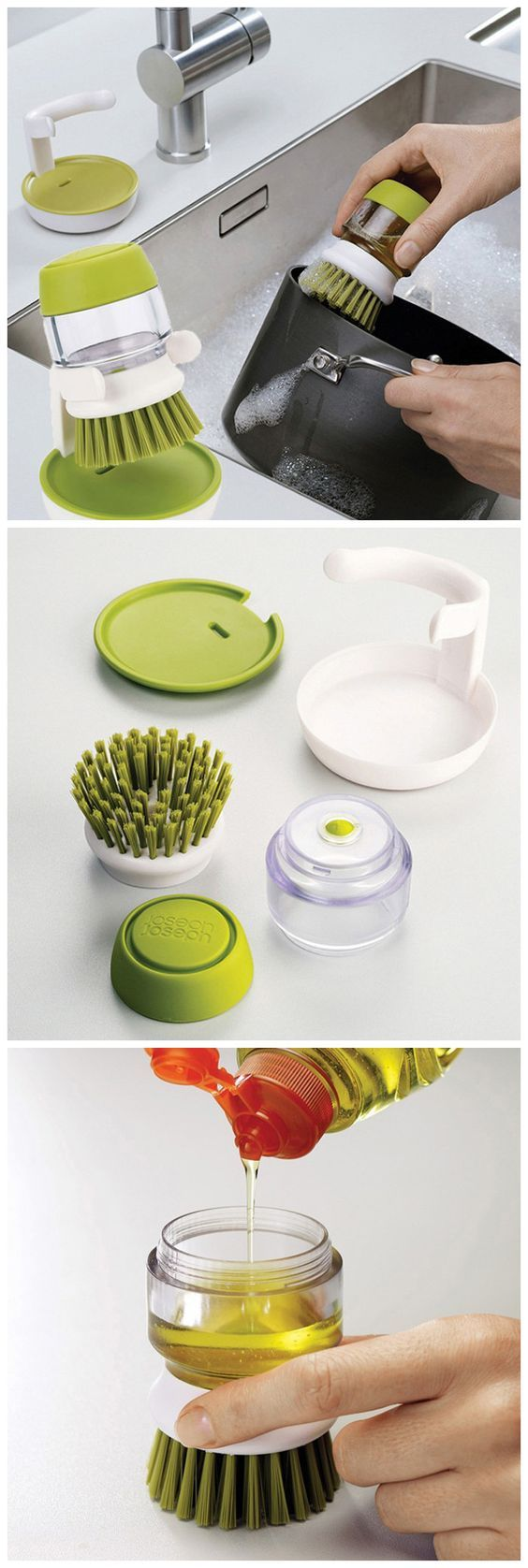 2 in 1 Cleaning Brush Small Detergent Can