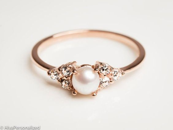 18 Insanely Gorgeous pearl Engagement Rings – Skinny Ninja Mom
