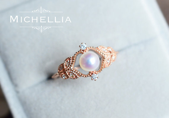 18 Insanely Gorgeous pearl engagement rings
