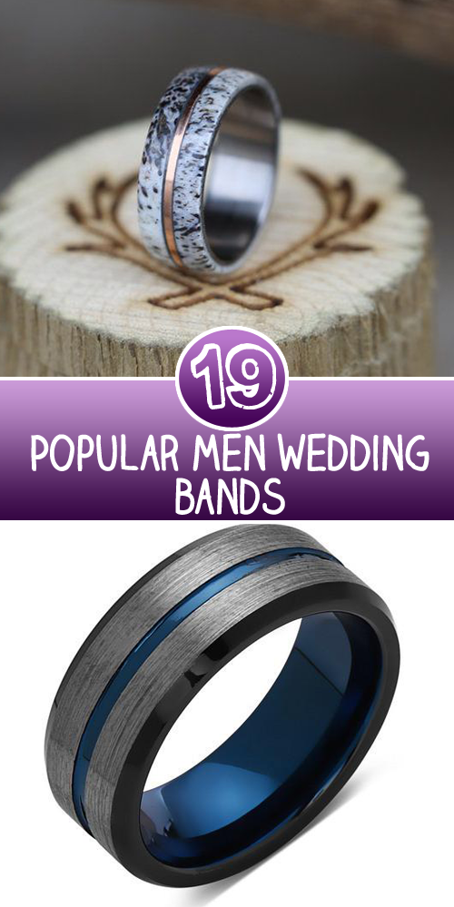 19 Popular men wedding bands