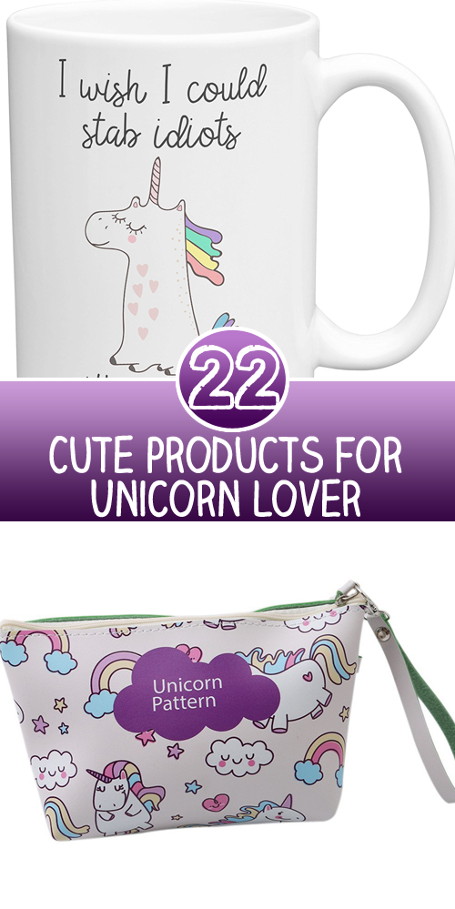 22 Cute products for Unicorn Lover