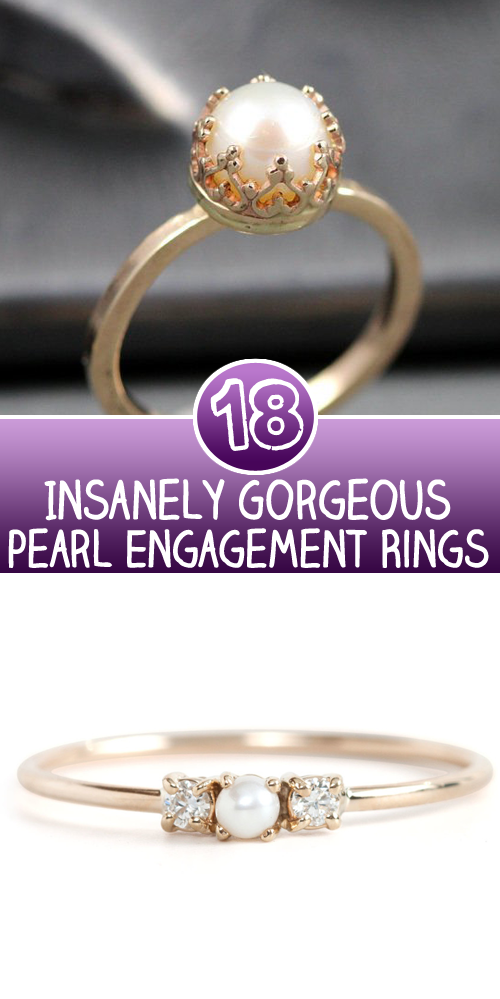 Insanely Gorgeous pearl Engagement Rings