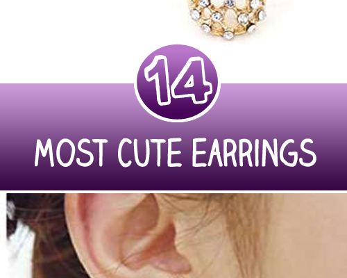 14 Most Cute earrings