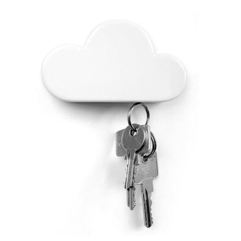 White Cloud Magnetic Wall Key Holder