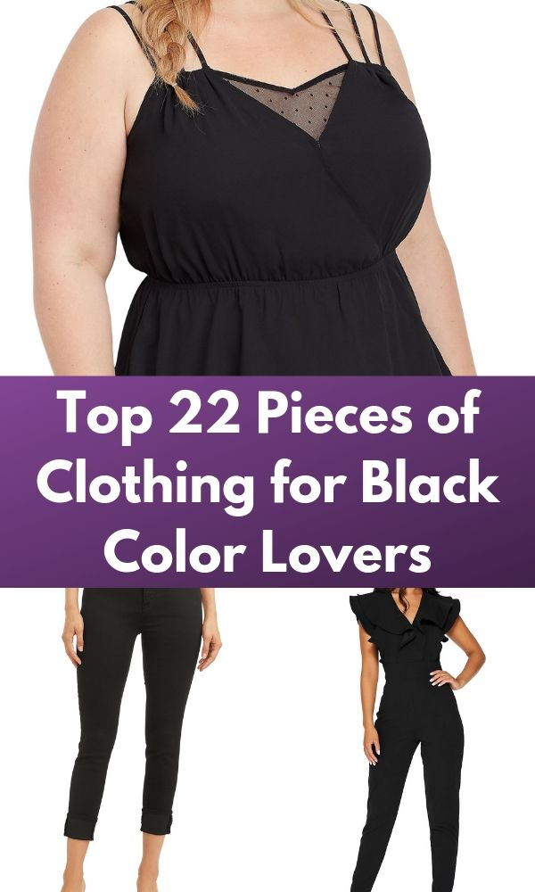 Top 22 Pieces of Clothing for Black Color Lovers