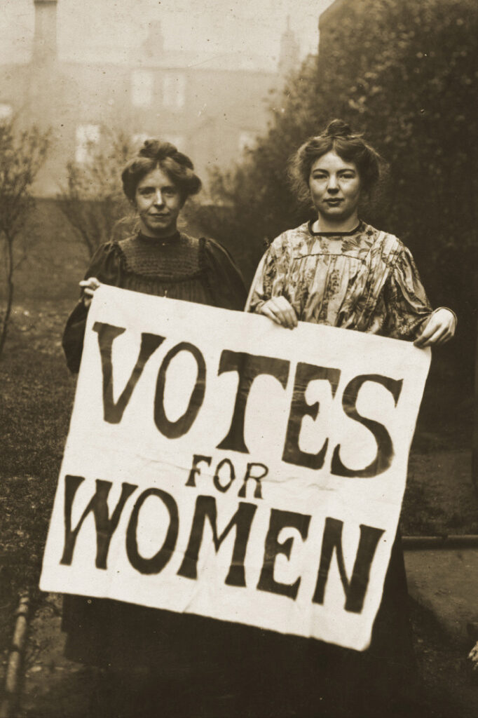 Who was the first woman allowed to vote for her husband